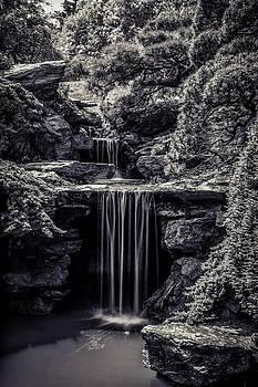 A Waterfall In The Japanese Garden by Edward Khutoretskiy