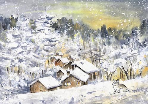 Miki De Goodaboom - A Wild Rabbit In Snow In Germany