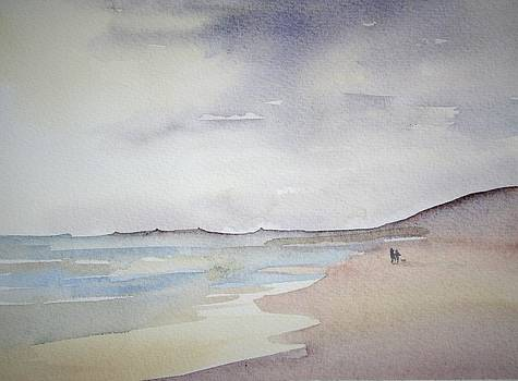 A Windy Day on the Beach by Victoria Glover