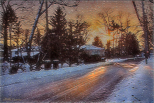 A winter sunset by Mikki Cucuzzo