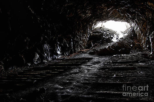Abandoned railroad tunnel by Robert Wirth