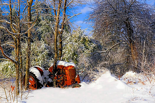 Brenda Giasson - Abandoned Winter Tractor