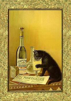 Absinthe Cat by Little Vintage Chest