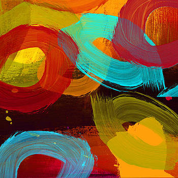 Ricki Mountain - Abstract Art Big Circle I