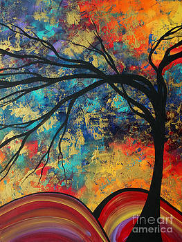 Abstract Art Original Landscape Painting Go Forth II By Madart Studios by Megan Duncanson