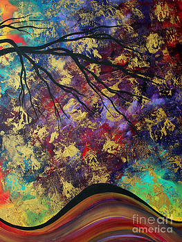 Abstract Art Original Landscape Painting Go Forth III By Madart Studios by Megan Duncanson