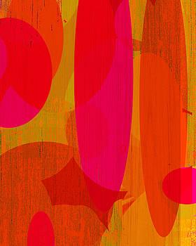 Ricki Mountain - Abstract Art Red Rocket II