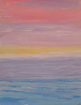 Abstract Beach Sunrise by Nancy Nuce