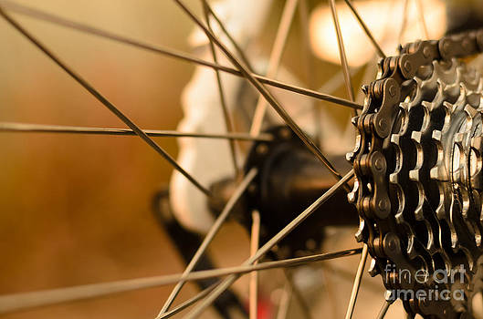 Abstract Bicycle Gear by Apichart Morya