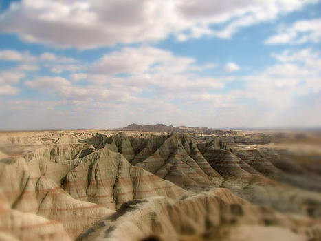 Abstract Blurred Badlands by Jens Larsen