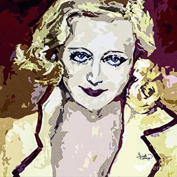 Ginette Fine Art LLC Ginette Callaway - Abstract Carol Lombard Portrait