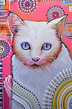 Abstract cat art painting ... Slinky by Amy Giacomelli