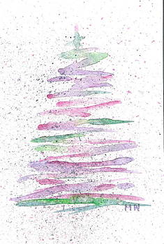 Abstract Christmas Tree by Marsha Woods