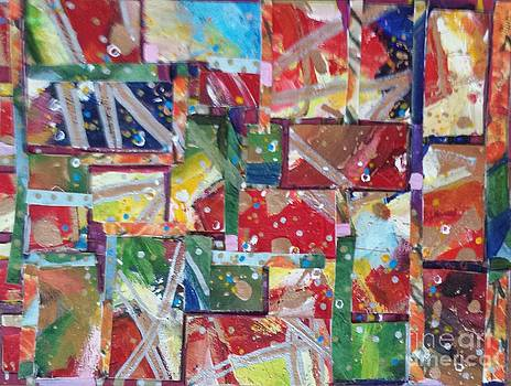 Abstract Collages 1 by Sherry Harradence
