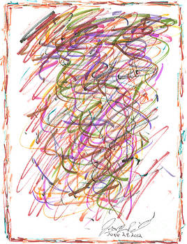 Abstract Confetti Celebration by Joseph Baril