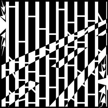 Abstract Distortion Driving Road Maze  by Yonatan Frimer Maze Artist