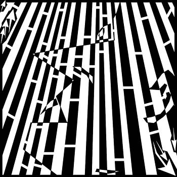 Abstract Distortion Sanguivoriphobia Maze by Yonatan Frimer Maze Artist
