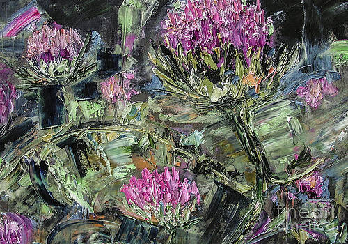 Ginette Callaway - Abstract Expressive Thistles