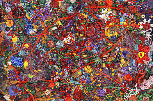 Mike Savad - Abstract - Fabric Paint - Sanity