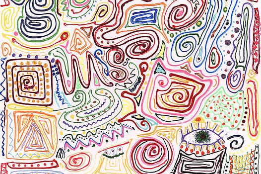 Mike Savad - Abstract - Fabric Paint - Urban Society