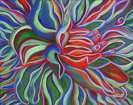 Abstract Flower by Janice Dunbar