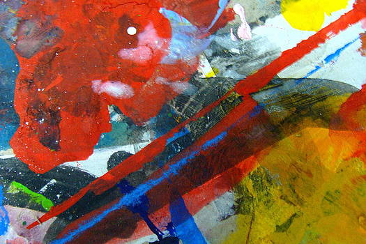 Abstract images on my work cardboard-85 by Fethi Canbaz