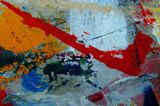 Abstract images on my work cardboard-86 by Fethi Canbaz