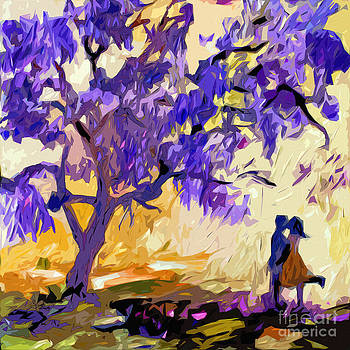 Ginette Callaway - Abstract Jacaranda Tree Lovers