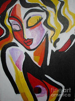 Abstract Lady In Red by Marcus Hudson