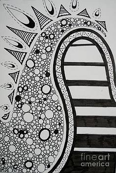 Abstract Noir et Blanc No 1 by Devan Gregori