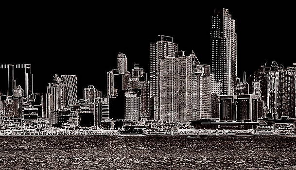 Abstract NY Skyline by Scott Schlaff