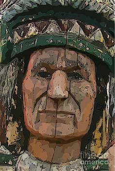 John Malone - Abstract of Wooden Indian Head