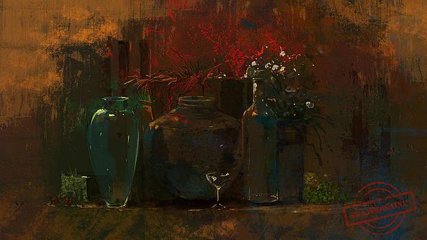 Abstract Painting   by Shajeersainu Sainu