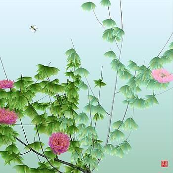 Abstract peony wasp by GuoJun Pan