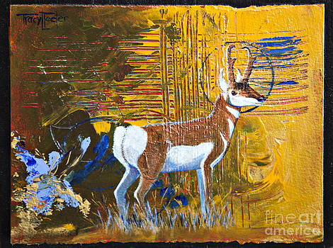 Abstract Pronghorn Antelope by Tracy L Teeter