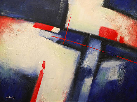 Abstract Red Blue by Glenn Pollard