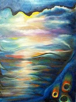 Abstract Seascape by Genevieve Elizabeth