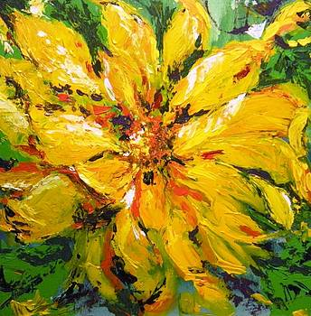Abstract Sunflower by Lori Ippolito