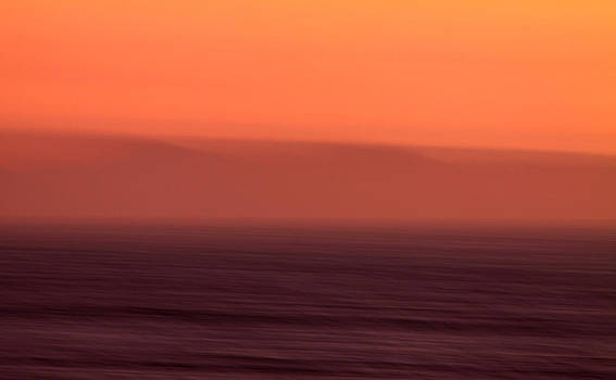 Abstract Sunset Over Ocean by Cheryl Ann Quigley