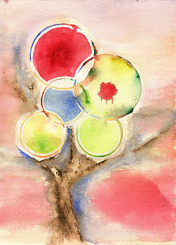 Abstract Tree Watercolor by Cosmin Bicu