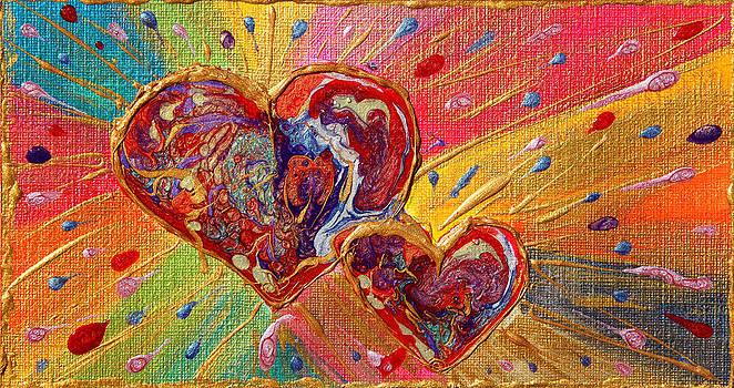 Abstract Valentines Love Hearts by Julia Apostolova