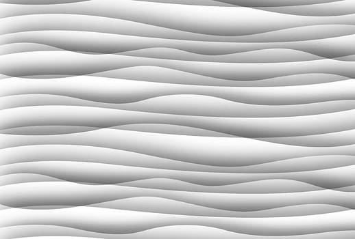 Abstract white wavy background by Somkiet Chanumporn