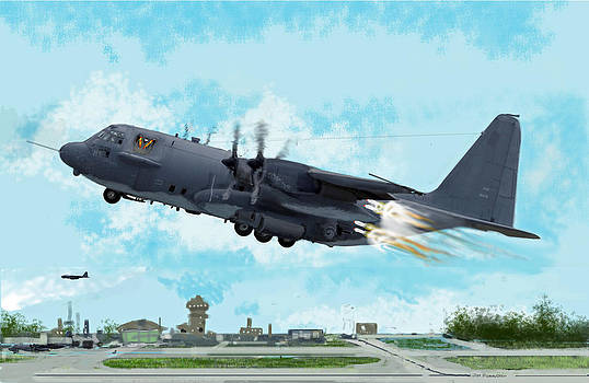 AC 130 Spectre Gunship by Jim Hubbard