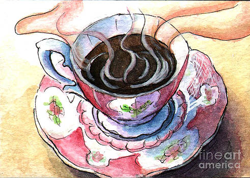 Ac307 Cup of Coffee by Kirohan Art
