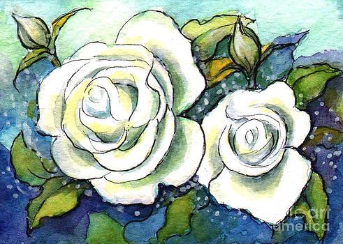 Ac308 White Rose by Kirohan Art