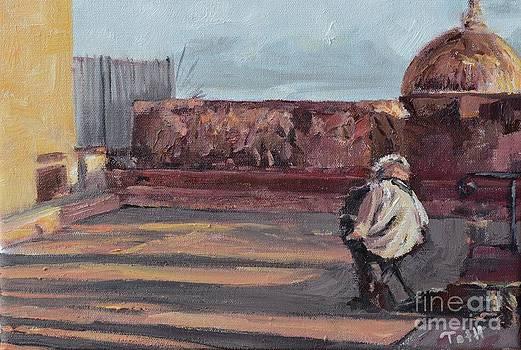 Accordion Man of Old San Juan by Laura Toth