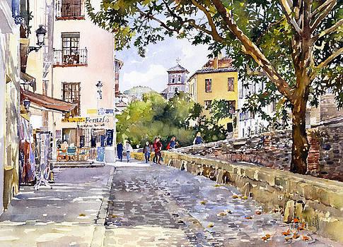 Acera del Darro Granada by Margaret Merry