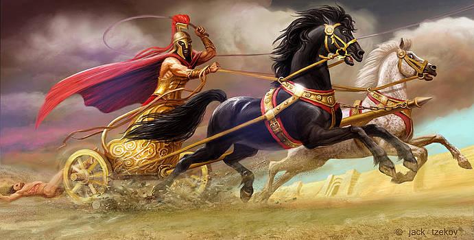 Achilles fights Hector by Jack Tzekov