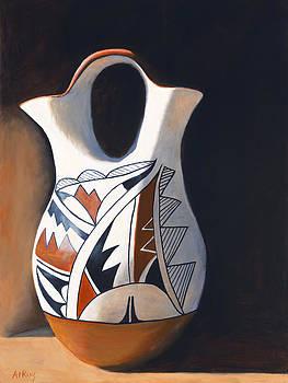 Acoma Wedding Vase by Jack Atkins