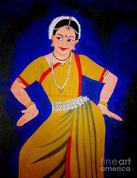 Acrylic Painting-An Indian Dancer by Priyanka Rastogi